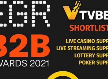 TVBET номинирована на EGR B2B Awards 2021 в четырех категориях